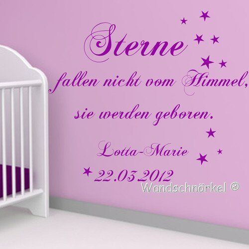 wandtattoo aa090 kinderzimmer namen sterne fallen nicht. Black Bedroom Furniture Sets. Home Design Ideas