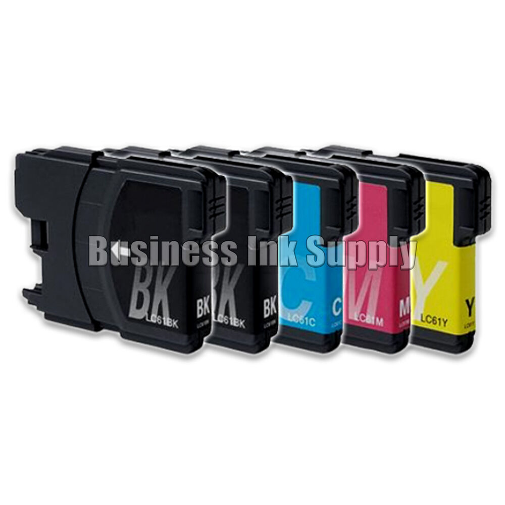 5 pack lc61 lc 61 generic ink cartridge for brother dcp 145c mfc 250c mfc 255cw ebay. Black Bedroom Furniture Sets. Home Design Ideas