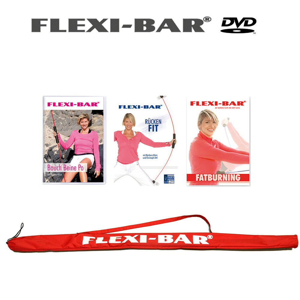 flexibar flexi bar set 3 dvd tasche blitzversand ebay. Black Bedroom Furniture Sets. Home Design Ideas