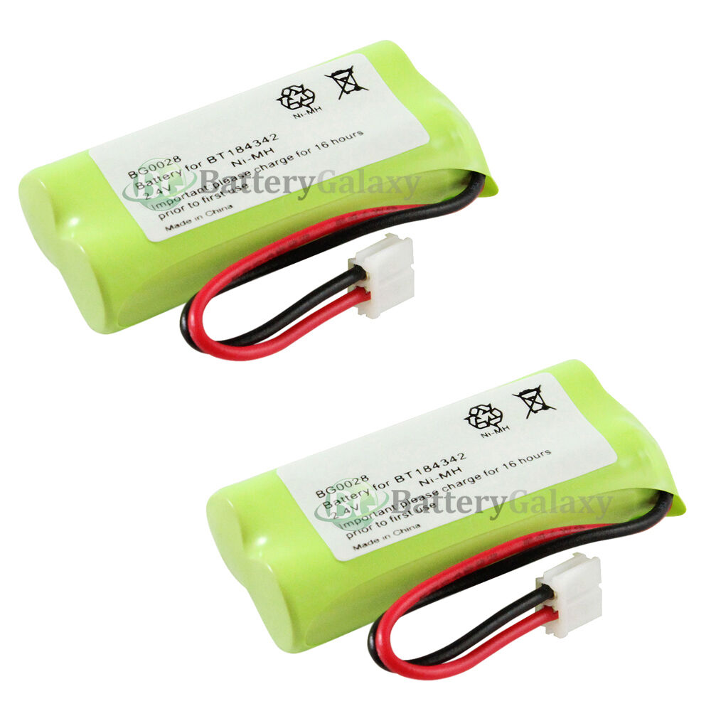 2 new home phone rechargeable battery for at t lucent bt 6010 bt 8000 1 200 sold ebay. Black Bedroom Furniture Sets. Home Design Ideas