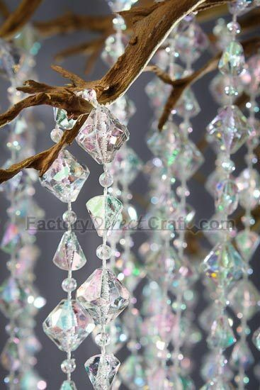 diamond decorations for weddings 60ft iridescent wedding decor ebay 3513