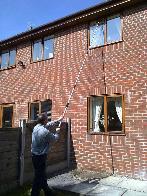 13ft water fed telescopic window cleaning pole brush