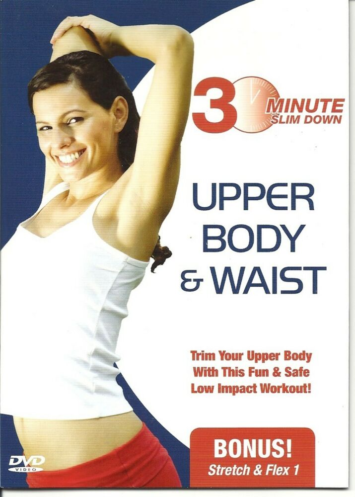 30 minute upper body waist slim down workout exercise dvd new ebay. Black Bedroom Furniture Sets. Home Design Ideas