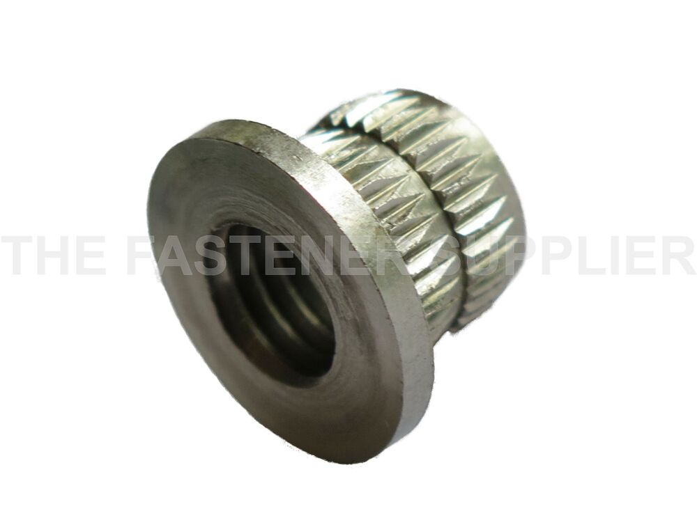 M mm stainless steel knock in knurled insert for