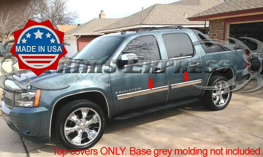 2009 2014 Chevy Suburban Avalanche Chrome Body Side Molding Overlay 4pc 4 Ebay