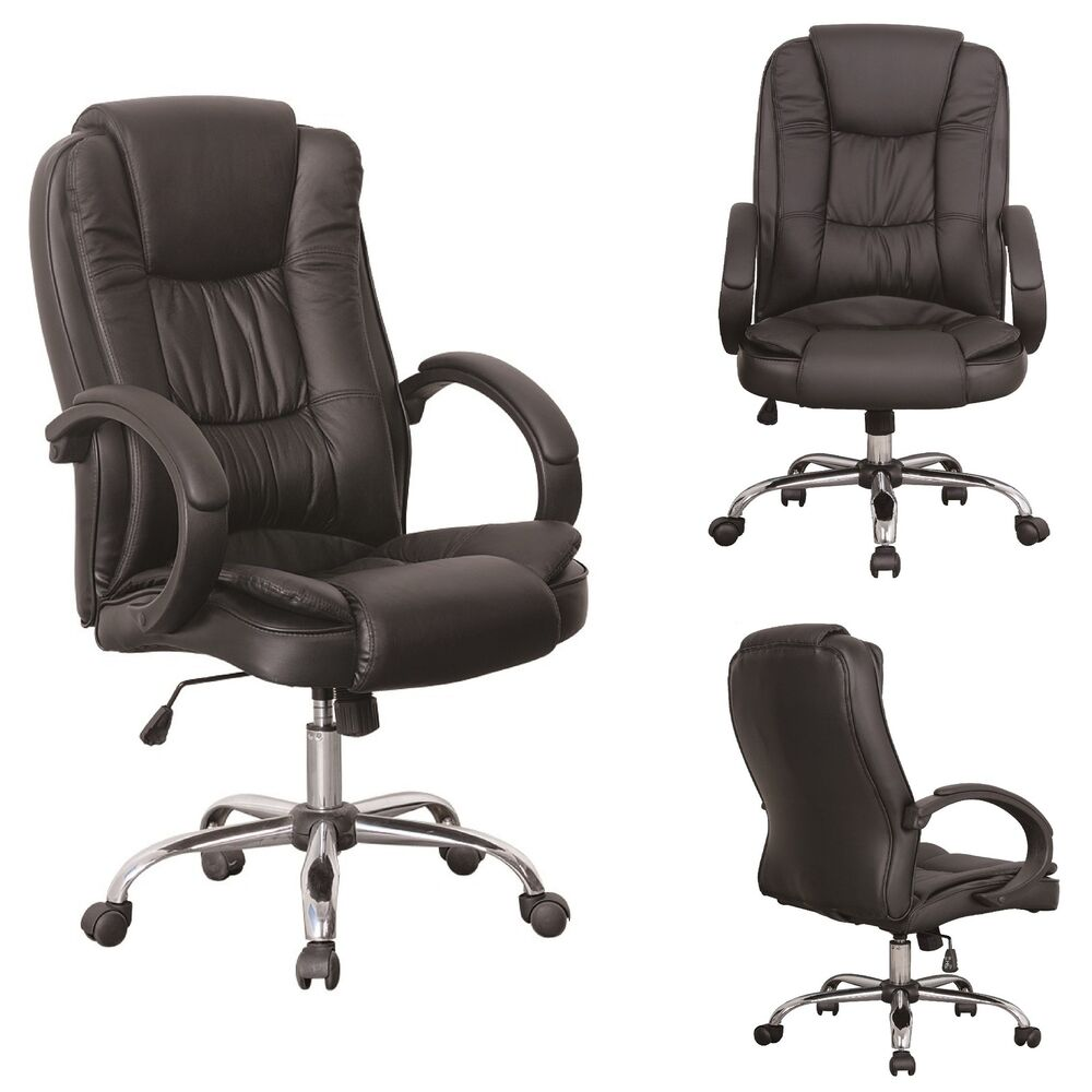 Black Luxury Swivel High Back PU Leather Executive PC  : s l1000 <strong>Home</strong> Office Chairs from www.ebay.com size 1000 x 1000 jpeg 72kB
