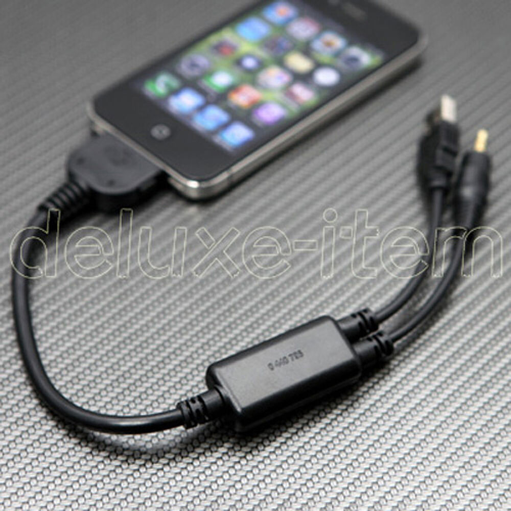 bmw mini ipod iphone 3g 3gs 4g 4 usb aux cable adapter ebay. Black Bedroom Furniture Sets. Home Design Ideas