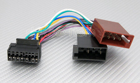 jvc 16 pin car stereo iso wiring harness lead pc3 484 ebay. Black Bedroom Furniture Sets. Home Design Ideas