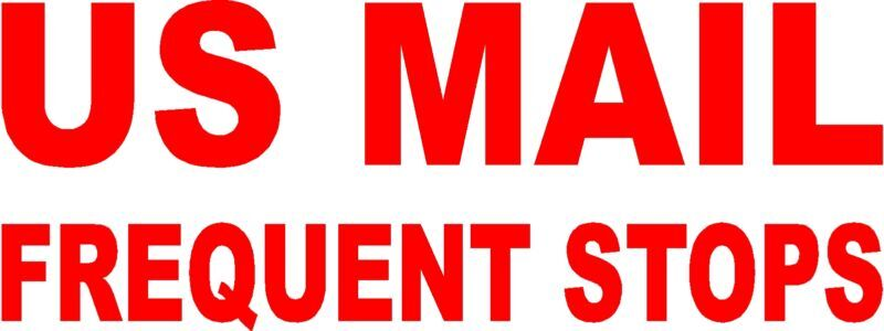 Us Mail Frequent Stops Vinyl Graphic Decal Ebay