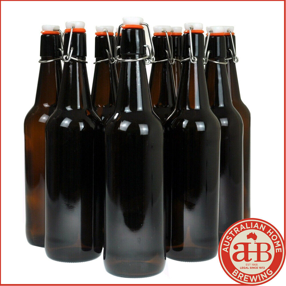 Home brew beer bottles flip top 750mlx12 swing top glass for How to cut a beer bottle at home