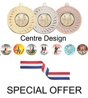 SPECIAL OFFER 10 x Dancing 45mm Metal Medals & Ribbon