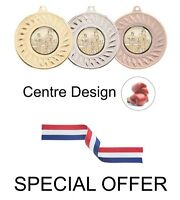 SPECIAL OFFER 10 x Boxing 45mm Metal Medals & Ribbon