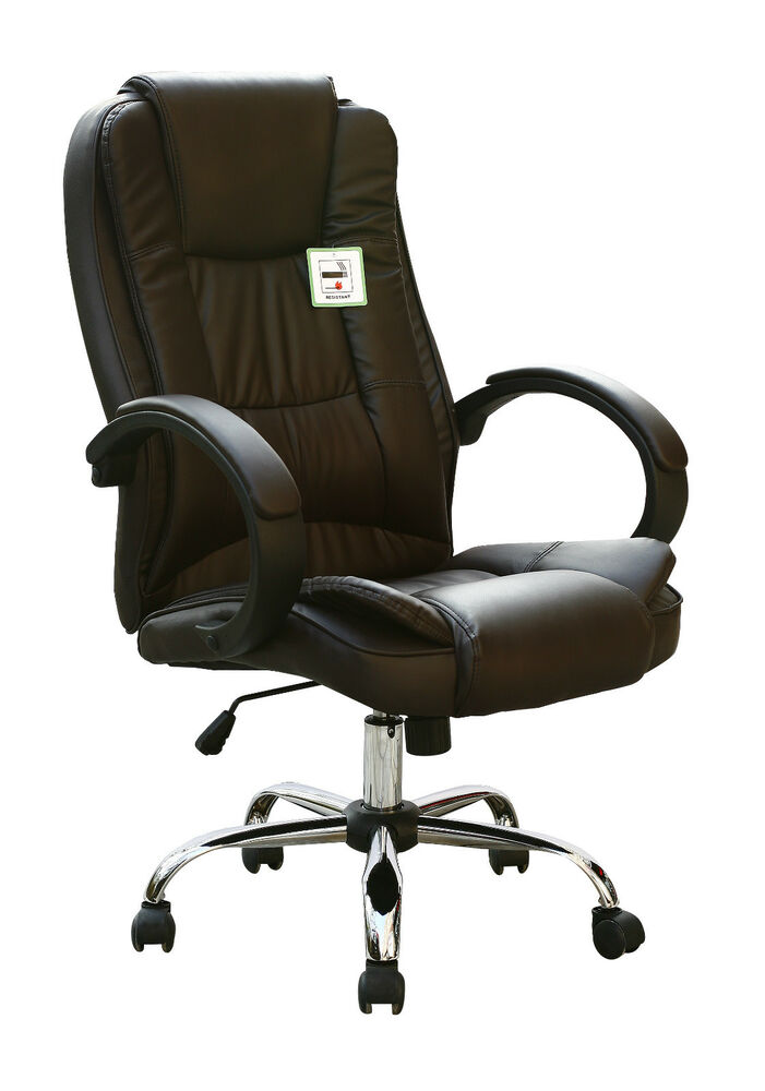 leather executive chair high back executive swivel computer desk faux leather 16625 | s l1000