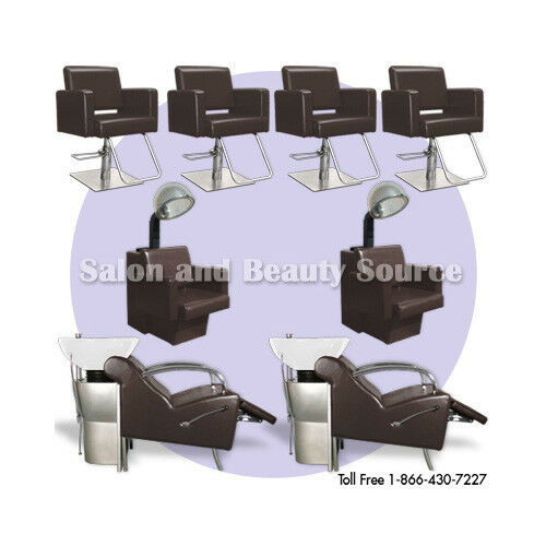 Salon package beauty styling chairs equipment furniture ebay for Hairdressing furniture packages