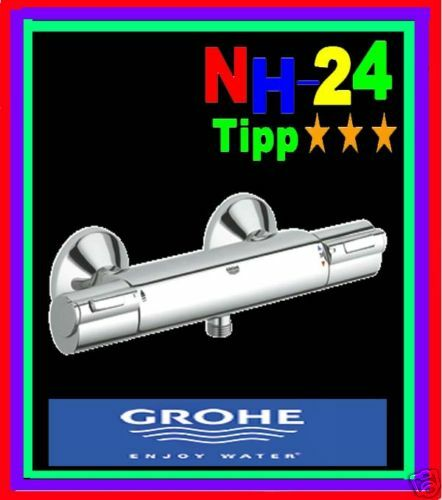 grohe grohtherm 1000 thermostat dusch armatur 34143 000 brausethermostat bad ebay. Black Bedroom Furniture Sets. Home Design Ideas
