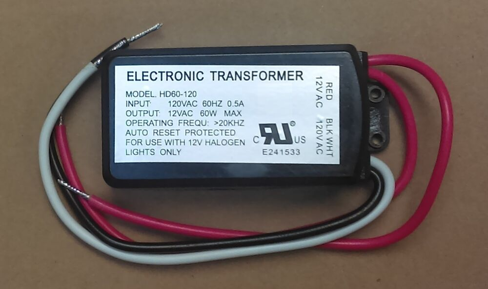 Electronic Dimmable Transformer 120vac To 12vac Halogen