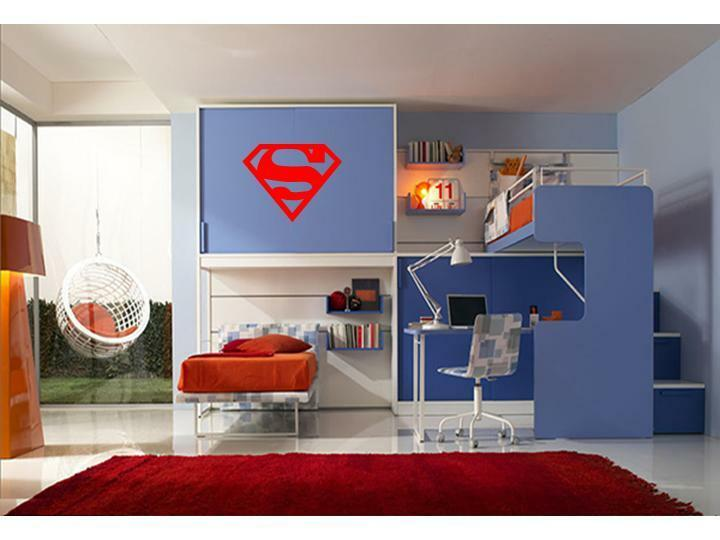 superman wall decal decor vinyl boys kids garage room ebay