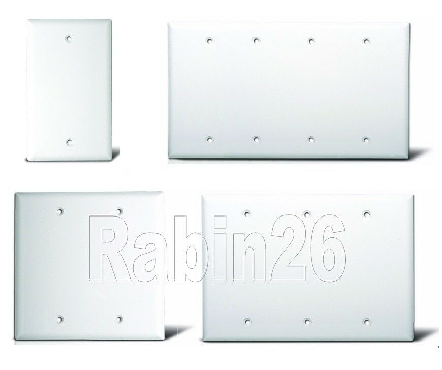 Blank Plastic Electric Box Wall Cover Plate 1 2 3 4 Gang