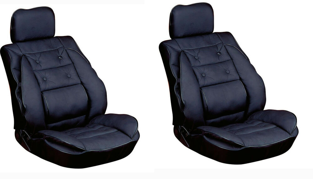 Car Seat Cover Cushion Back Support Leather Look PAIR