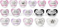 Baby Girl's Dummy Pacifier Soother Funny Cute Baby Shower Gift  50 Designs