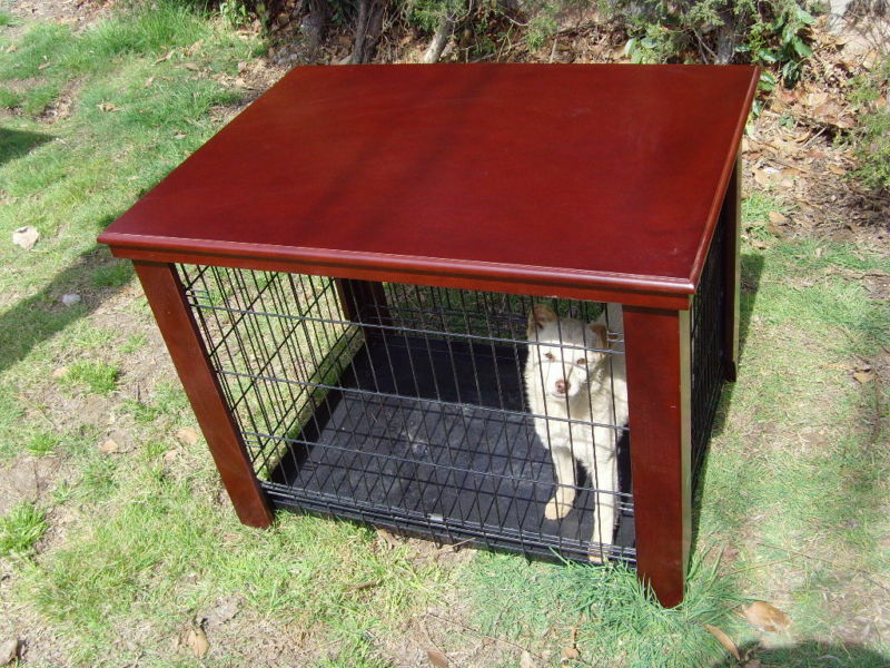 Wood Dog Crate Table Fit Folding 30 Pet Cage Furniture Ebay