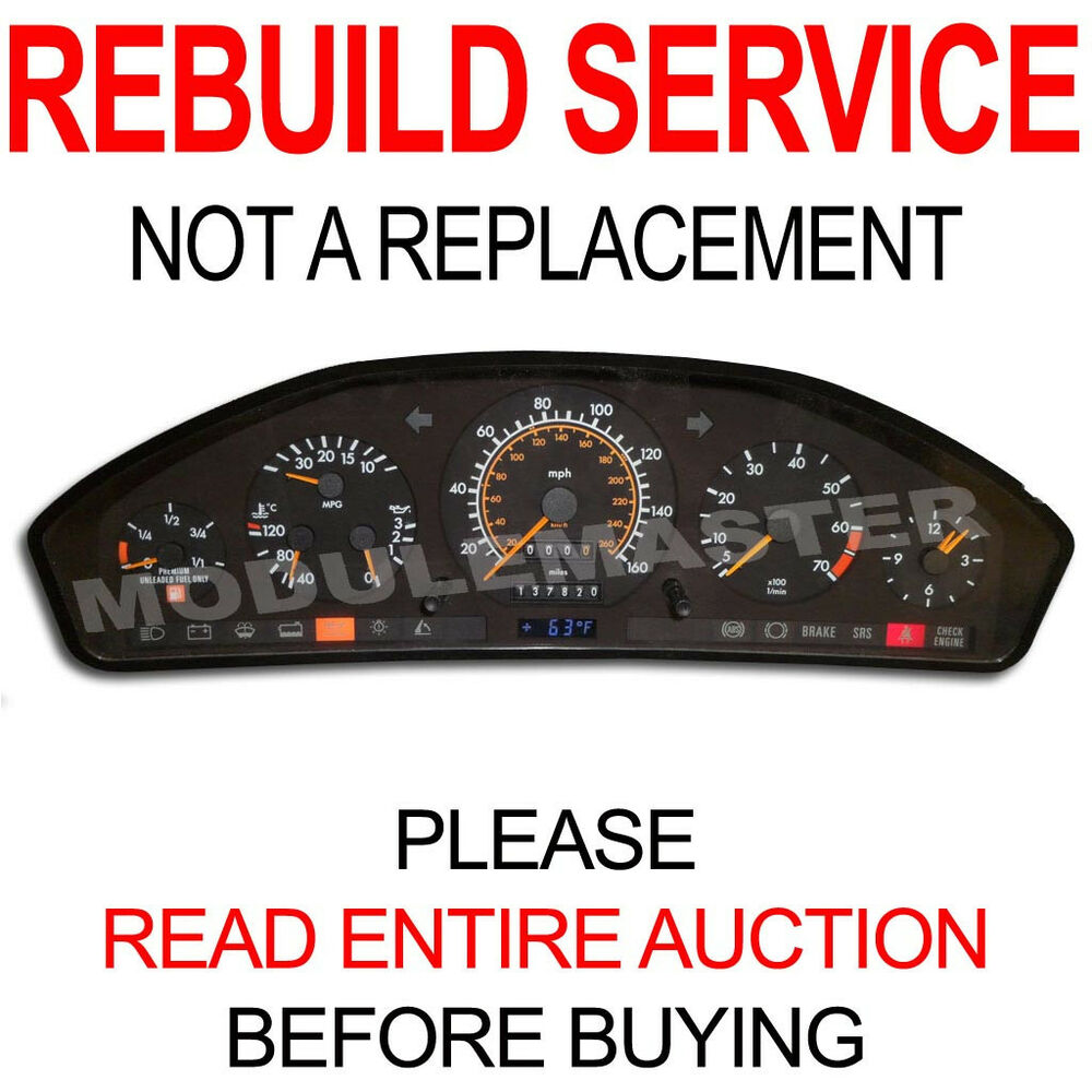90 91 92 93 94 mercedes sl s class instrument cluster for Mercedes benz cluster repair
