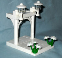 NEW LEGO CUSTOM WEDDING ARCH CAKE TOPPER FOR BRIDE AND GROOM MINIFIGURES
