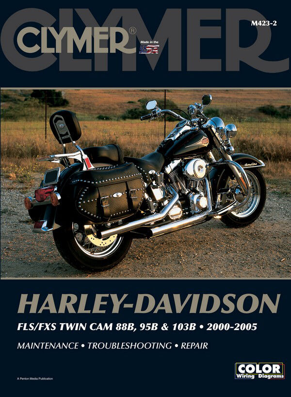 Harley Davidson Repair  Shop Manual Fls  Fxs Softail Fat Boy Twin Cam 2000