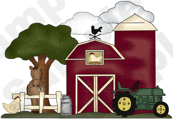 Farm barnyard animal nursery wall mural stickers decals ebay for Barnyard wall mural