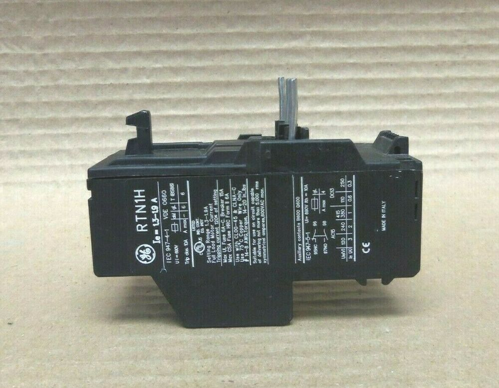 Ge rtn1h thermal overload relay general electric ebay for General electric ac motor thermally protected
