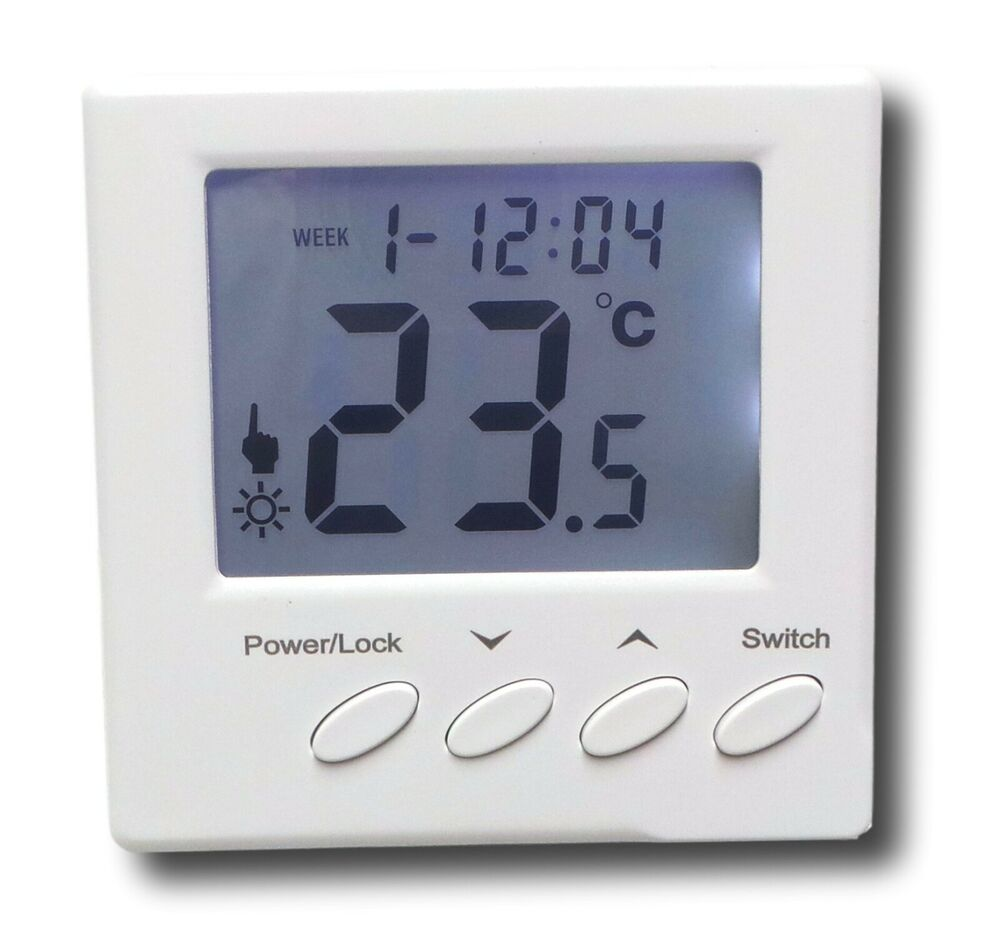 digital thermostat f r wasser fussbodenheizung a739 ebay. Black Bedroom Furniture Sets. Home Design Ideas