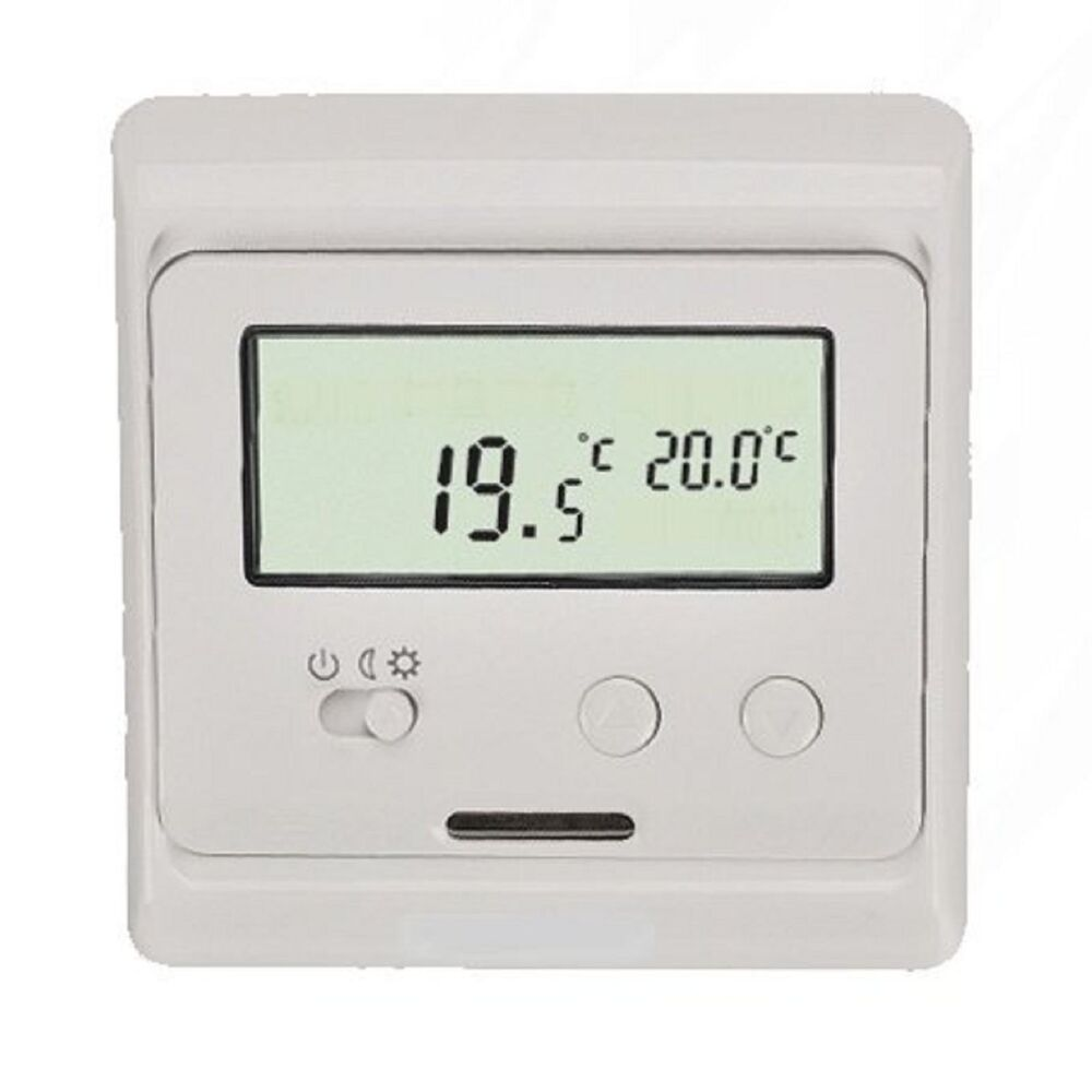 digital thermostat raumthermostat programmierbar 694 ebay. Black Bedroom Furniture Sets. Home Design Ideas