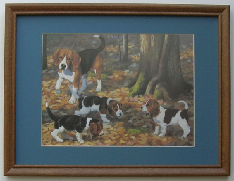 Beagles Hunt Puppies Beagle Framed Country Pictures Ebay