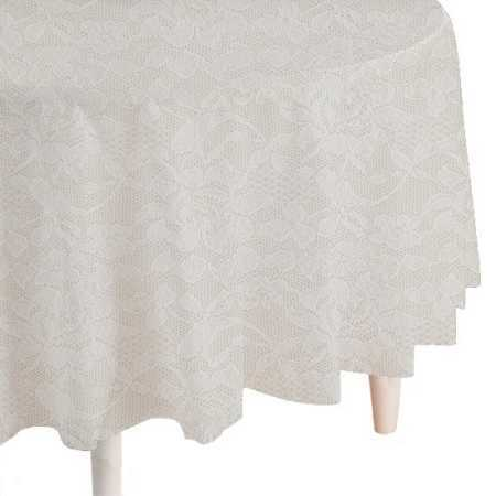 4 White Lace Round Plastic Table Cover Wedding Showers Ebay