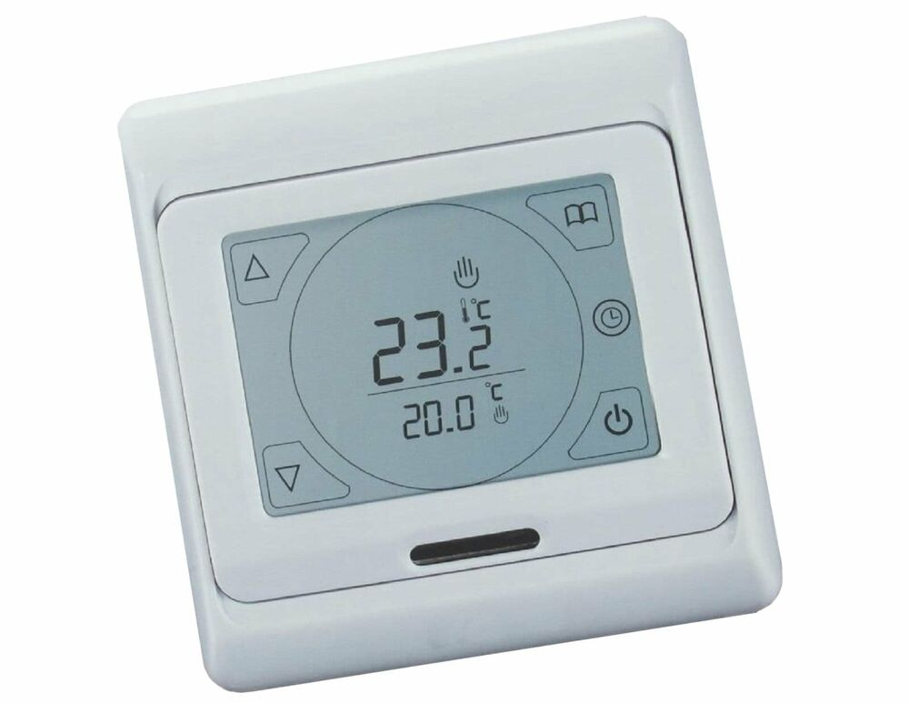 regler thermostat touchscreen fu bodenheizung 695 ebay. Black Bedroom Furniture Sets. Home Design Ideas