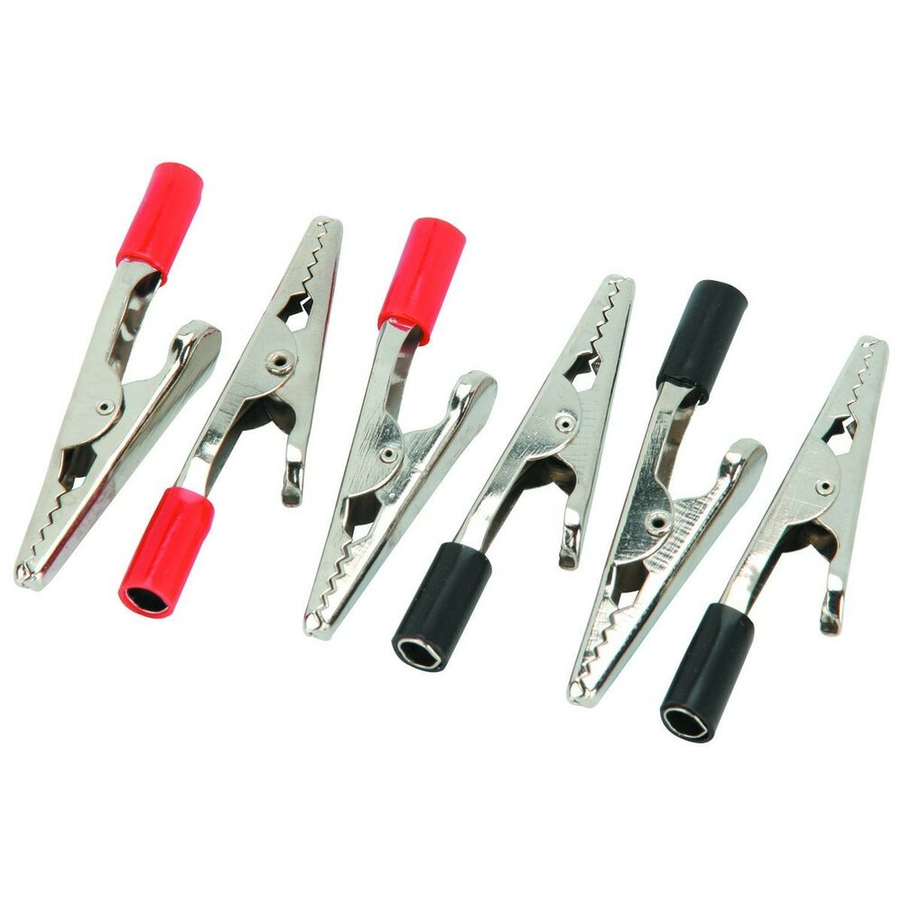 New 6 alligator stainless clips electric clamps ebay for Small alligator clips for crafts