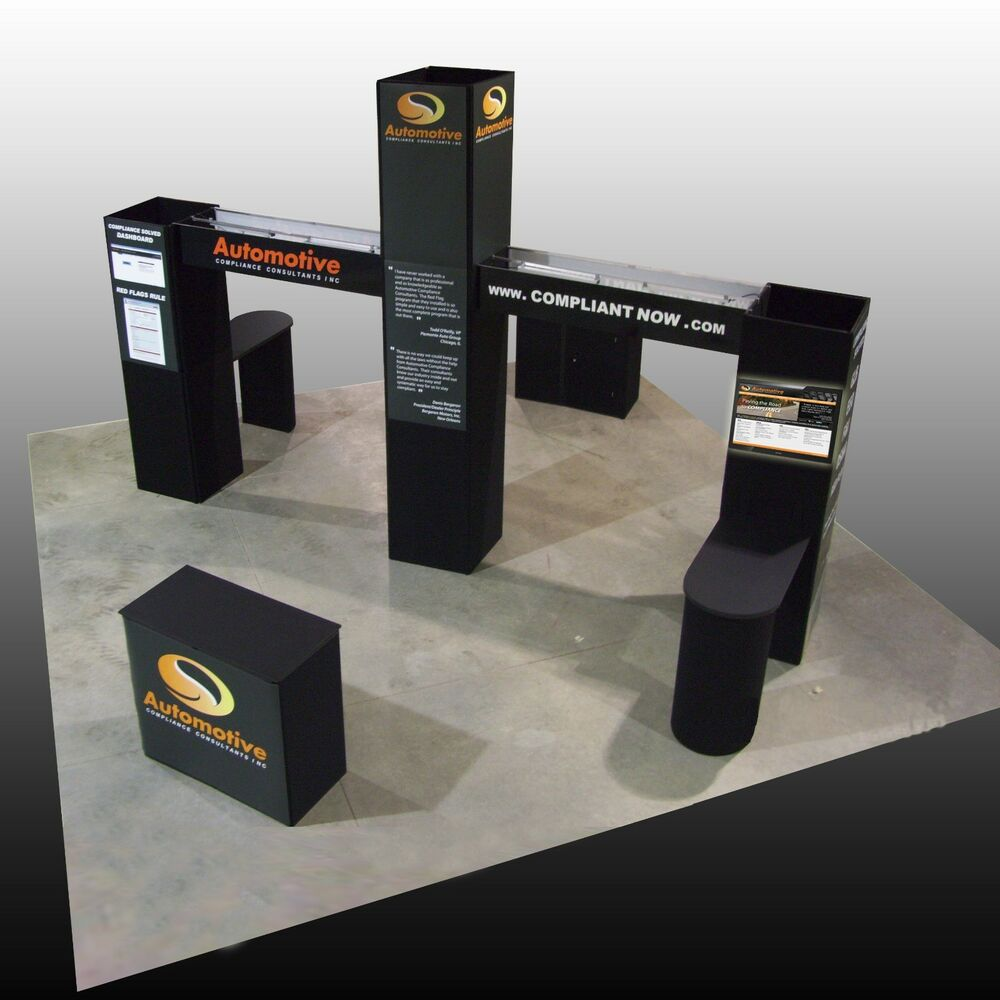 Exhibition Booth Signage : Trade show display booth island ebay
