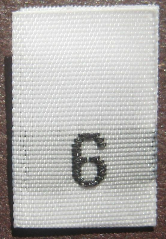 100 woven clothing labels size tags size 6 white ebay Woven t shirt tags