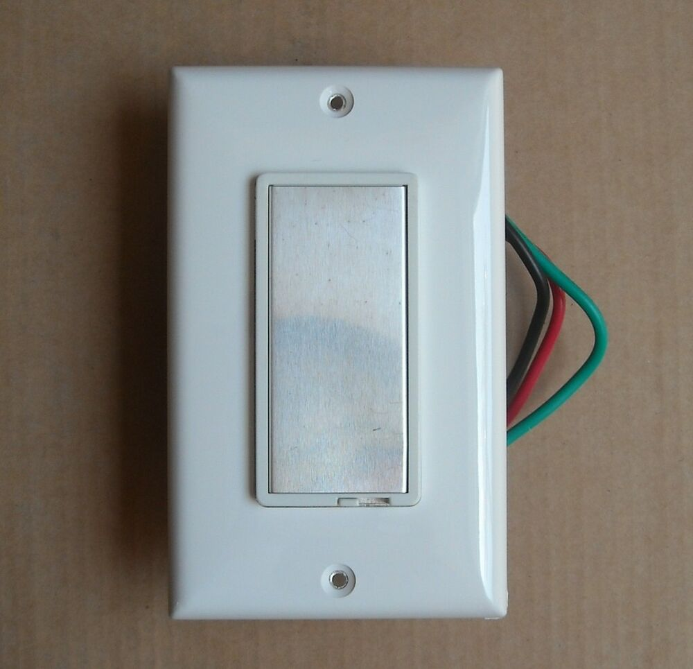 decora single pole wall aluminum touch dimmer switch light 600w max white trim ebay. Black Bedroom Furniture Sets. Home Design Ideas