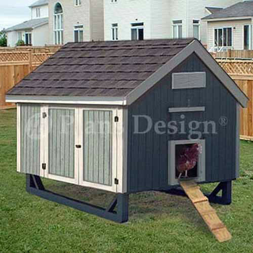 4'x6' gable roof style chicken coop plans, 90406mg | ebay