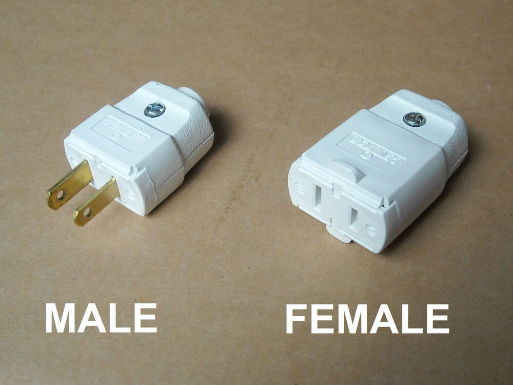 Male female outlet leviton v vac a pin prong