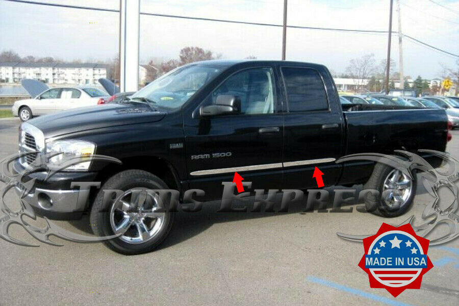 2002-2008 Dodge Ram 1500/2500 Quad Crew Cab 4Pc Flat Body ...
