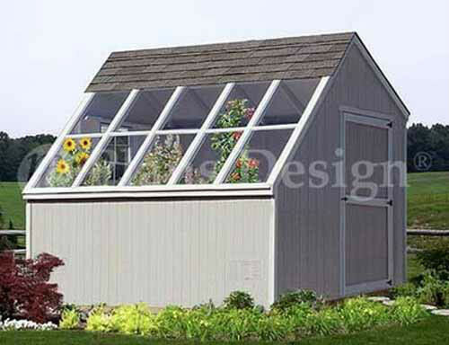 10 10 greenhouse backyard garden shed plans material list included 41010 ebay