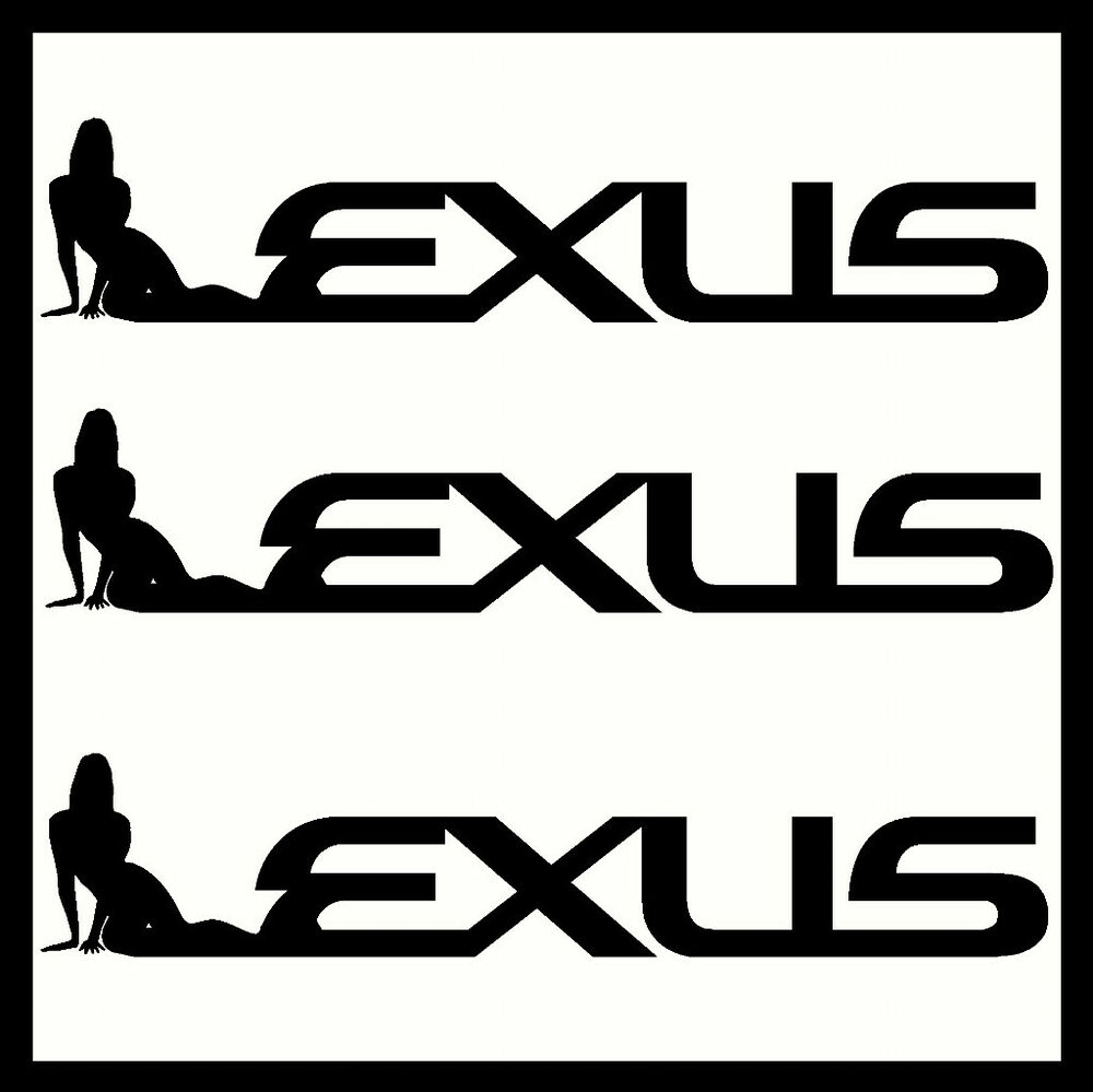 Details about 2 x lexus vinyl car stickers decals sexy funny custom