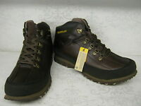 Mens Caterpillar Restore Dark Brown Leather Casual Lace Up Boots