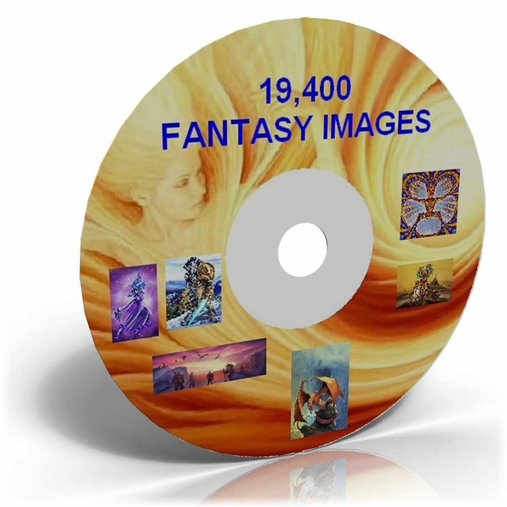 19 400 fantasy images on dvd cardmaking crafts cd ebay for Crafts that sell on ebay