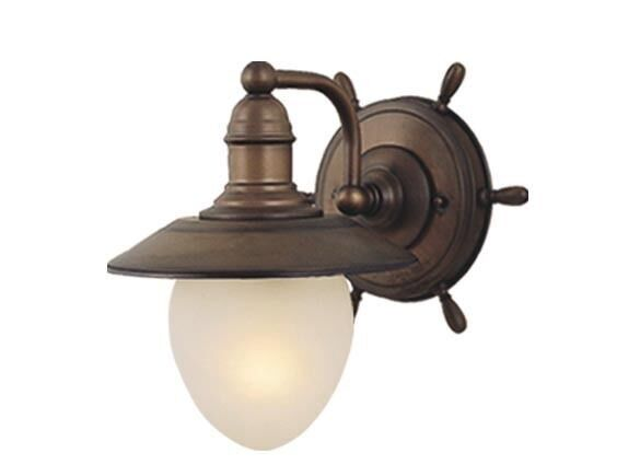 Nautical Bathroom Light Fixture: VAXCEL 1 LIGHT NAUTICAL RED COPPER BATHROOM VANITY