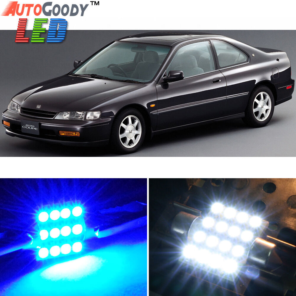 10 x premium blue led lights interior package kit for honda accord 94 97 tool ebay. Black Bedroom Furniture Sets. Home Design Ideas