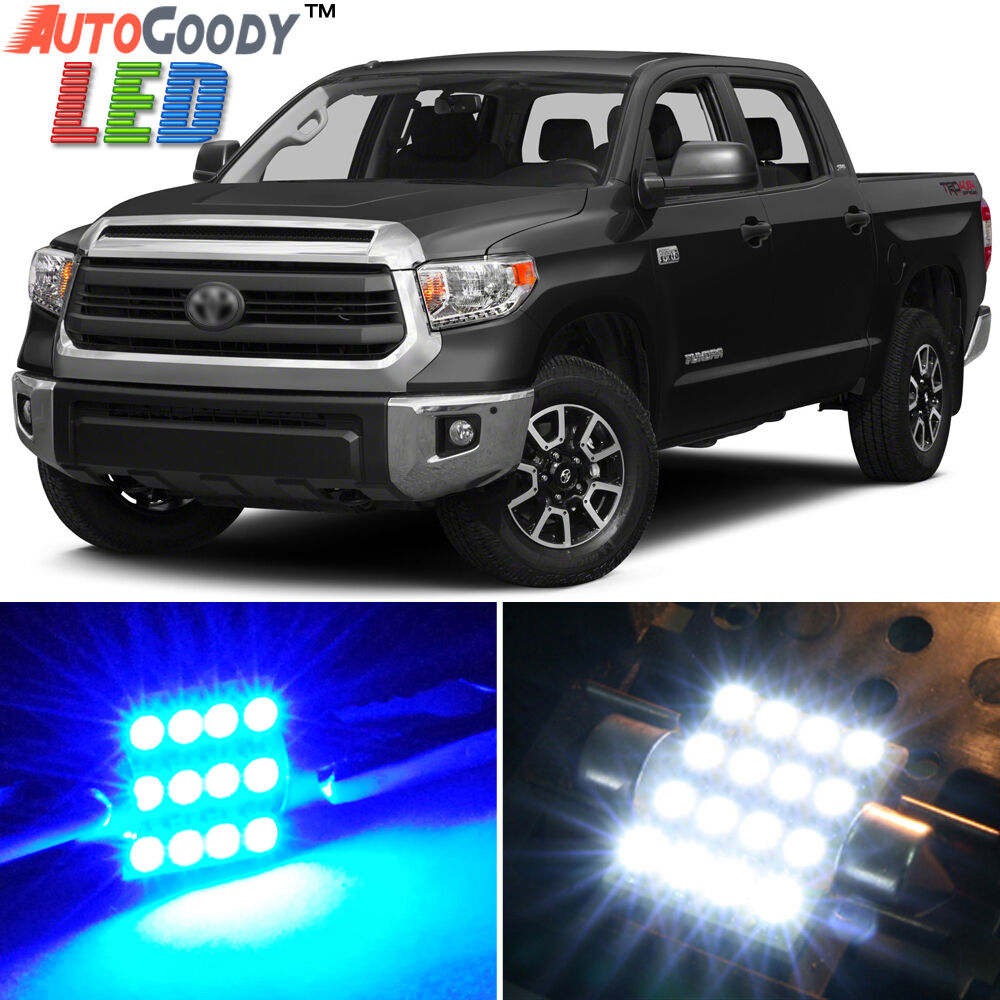14 X Premium Blue Led Lights Interior Package Kit For Toyota Tundra Tool Ebay