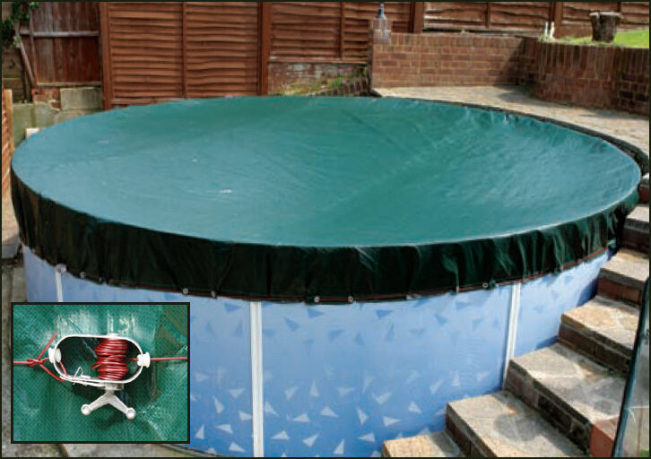 12ft above ground swimming pool round winter cover ebay for Above ground swimming pools uk